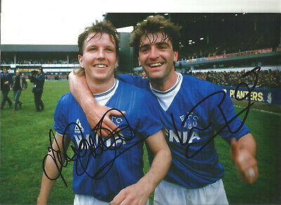 Kevin Ratcliffe Trevor Steven Everton hand signed authentic football photo SS203