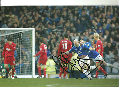 Lee Carsley Everton 12 x 8 inch hand signed authentic football photo SS194