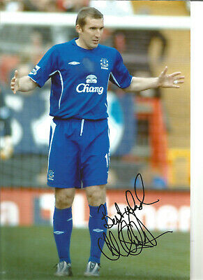 Alan Stubbs Everton 12 x 8 inch hand signed authentic football photo SS198