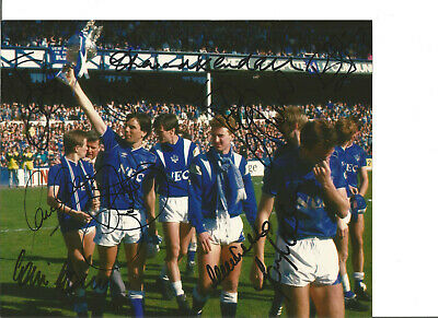 Multi Signed Everton 10 x 8 inch hand signed authentic football photo SS186