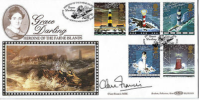 24 MARCH 1998 LIGHTHOUSES SIGNED CLARE FRANCIS BENHAM BLCS 141b FDC BAMBURGH SHS