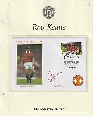 1999 Manchester United Treble Winners Cover Hand Signed Roy Keane