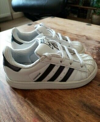 🖤Adidas Superstar Trainers, Infant 9
