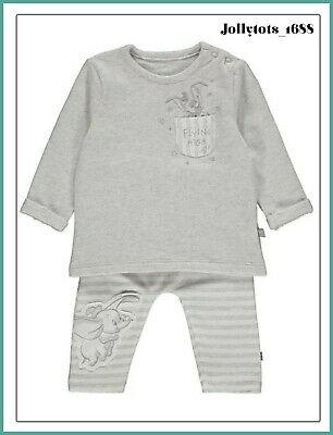 Disney Baby Boys Dumbo Clothes Set Joggers & Top Outfit BNWT 0-18 Months