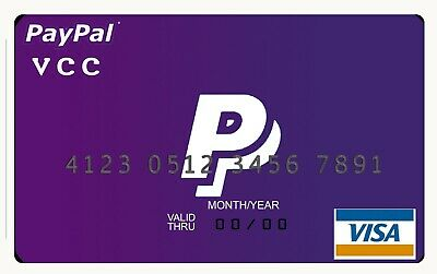 VCC Virtual Credit Card For Paypal Verification | $2 balance | works worldwide