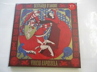 "Vinicio Capossela - Bestiario D'amore - 10"" Red Vinyl New Sealed Boxset 2020"