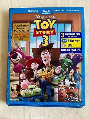 Toy Story 3 Two Disc Blu-ray / DVD Combo WITH slipcover PIXAR Disney family