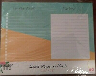 """Desk Planner Pad To Do List 60 Sheets 9.75 x 7.5"""" #90923 by 3 Birds Designs"""