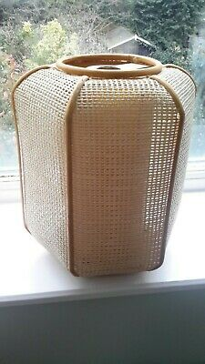 Vintage Retro Rattan Lampshade Wicker Rattan Pendant / Table Lampshade