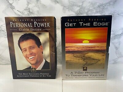 Anthony Tony Robbins - Get the Edge & Personal Power DVD CD Collection VGC