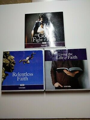 CD Series Lot - Creflo A. Dollar - Audiobooks - Relentless Faith, Good Fight +
