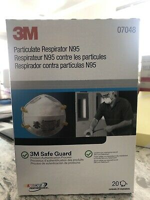 3M N95 8210 (packed as 07048) Particulate Respirator Face Mask - 20pk Brand New