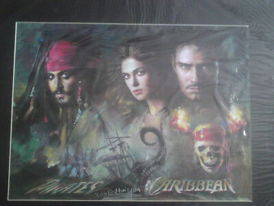 pirates of the carribean jack sparrow A3 print mounted & foam backed