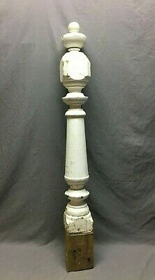 Antique Decorative Turned  wood Newel Post Shabby 5x47 Old Vtg Staircase 191-20B