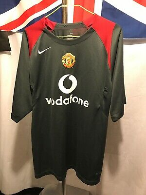 Nike Grey Manchester United Training Shirt Vodafone Size L G267