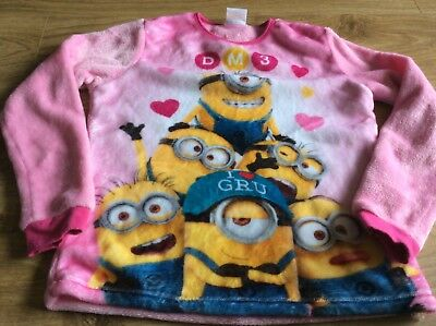 Girls 10-11 Pygama Top Nighwear Minions Despicable Me 3 Top