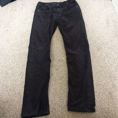 Boys Skinny Black Corduroy Trousers H&M Size 9-10