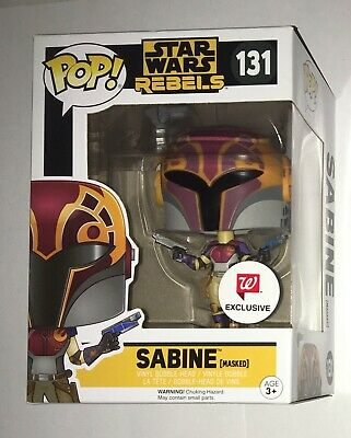 Funko Pop Star Wars Rebels Sabine Masked Walgreens Exclusive 131 New