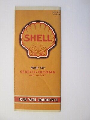 Shell Road Map of Seattle and Tacoma 1941
