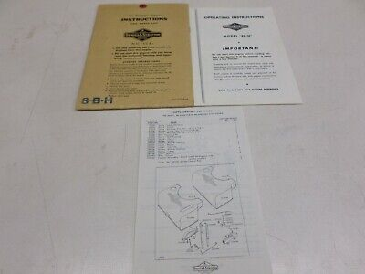 Briggs And Stratton Model 8B-H Used Operating Instruction Booklet