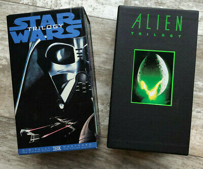 Star Wars & Alien Movie VHS Boxset Lot