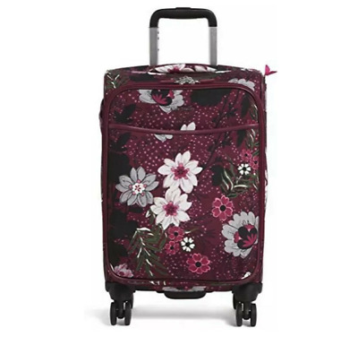 """Vera Bradley - NWT - 22"""" Iconic Small Spinner Luggage - Bordeaux Blooms"""