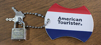 Vintage American Tourister Luggage Tag / With Lock & Keys