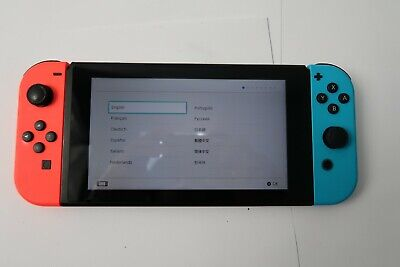 Nintendo Switch 32GB Gray Console Neon Red & Neon Blue Joy-Con *Console Only*