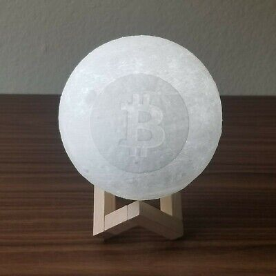 To The Moon Bitcoin CryptoCurrency 3D Printed LED Moon Lamp