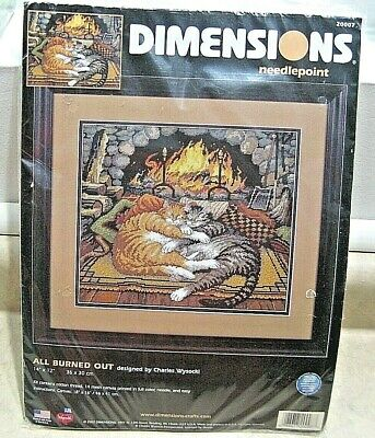 DIMENSIONS All Burned Out Charles Wysocki Needlepoint Kit Cats