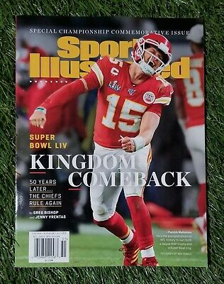 Patrick Mahomes Sports Illustrated special championship commemorative issue 2020