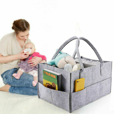 Felt Baby Diaper Caddy Nursery Storage Wipes Bag Nappy Organizer Container BEST