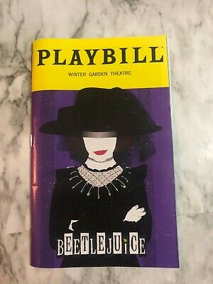 Beetlejuice Playbill Limited January 2020 Lydia Edition