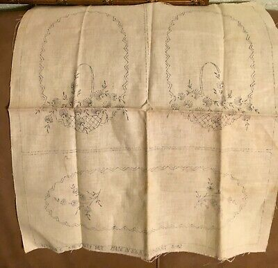 3 Piece Vanity Set Stamped Cross Stitch Dresser Scarf for Embroidery