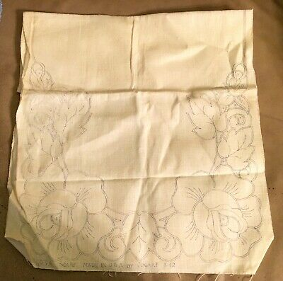 Large Stamped  Dresser Scarf / Table Runner for Embroidery