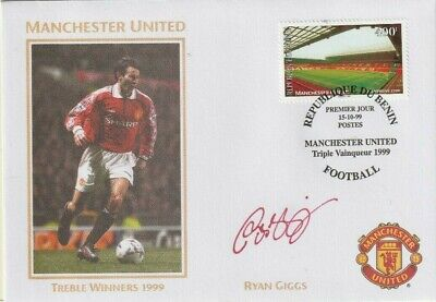 1999 Manchester United Treble Winners Cover Hand Signed Ryan Giggs