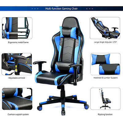 Gaming Chair with Bluetooth Speakers Music Video Games Sound Chair Patent Design