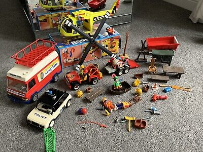 Playmobil Bundle Race Truck Helicopter Motorbikes