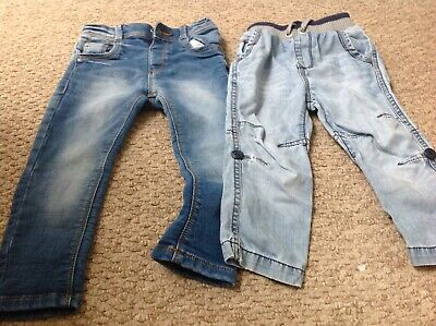 2 Pairs Of Boys Jeans 18-24 Months
