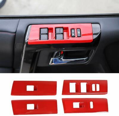 For Toyota 4-Runner 2010-19 Window Lift Button Panel Trims Overlay Cover Accesso