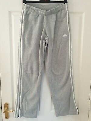 WOMENS ADIDAS Grey joggers Size 14 Jogging Bottoms Sweatpants with Zips Pockets