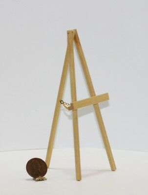 Dollhouse Miniature 1:12 Wood Easel in Natural Clear Stained Wood