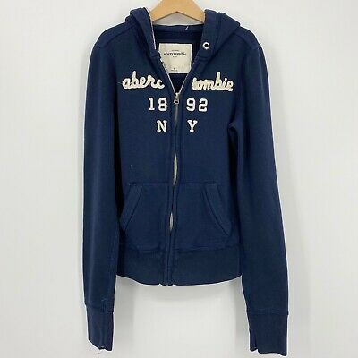 Abercrombie Kids zip up hoodie boys or girls size M Navy sweatshirt