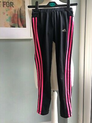 Girls Adidas Black Exercise Leggings Age 9-10