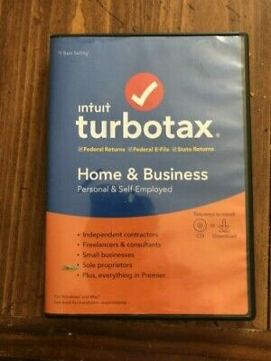Turbo Tax 2019 Home & Business Windows & Mac CD Software