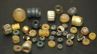 ancient Viking set of ancient glass beads different colors