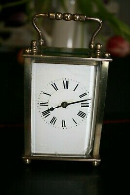 19th Century Miniature French Brass Carriage Clock GWO