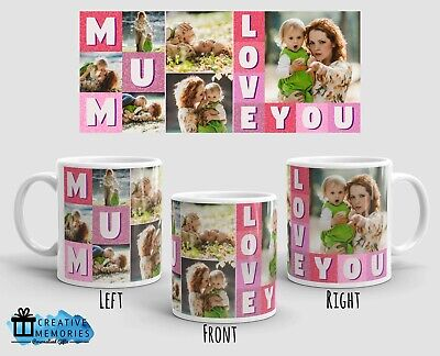 Personalised Mothers Day Mug Photo - Coffee Mug - Mothers Day - Love Mum Collage