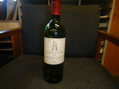 Chateau Latour 1970 Vintage Wine Bottle