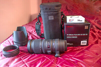 Sigma AF 70-200mm f2.8 APO DG EX HSM OS Lens for Canon EF w. accessories